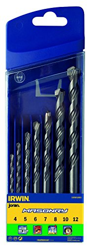 Irwin 10501893 Masonry Drill Bit for Cordless Drills, 4mm-12mm, 7 Pieces