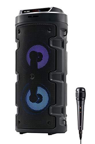 ELBE ALT-88-TWS - Altavoz BT Karaoke portátil con luz 10 W SD,...