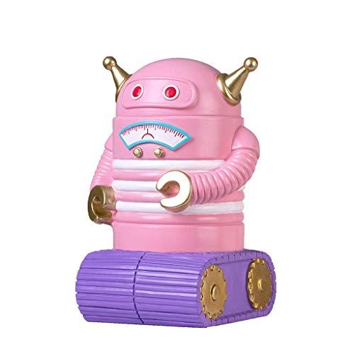 Dinero de Dibujos Animados Banco Niño Robot Piggy Bank Depositable Bank Best Toy Regalos para niños Niñas (Color: Rosa) TINGG (Color : Pink)