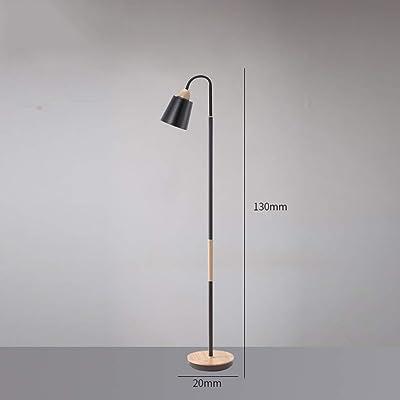 QHCS Lampadaire Moderne Minimaliste Vertical Salon Étude Chambre Lampe de Chevet Bois Lampe de Lecture en Fer forgé Lampe de Lecture à LED (Couleur:A) Lampe de Lecture sur Pied