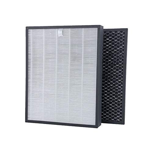 Wessper Kit de Repuesto de carbón Activado y HEPA Filtro, FY3432/10 y FY3433/10 Filtros, Compatible con Philips AC3256/60, AC3259/10, AC4550/10 purificador de Aire