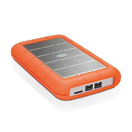LaCie Rugged Triple 1TB External Hard Drive Portable HDD – USB 3.0 FireWire 800 compatible for Mac and PC Computer Desktop Workstation Laptop (STEU1000400)