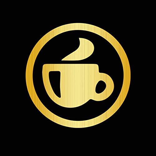 DSRLO Autoaufkleber 10 * 10Cm Kaffeetasse Autoaufkleber und Abziehbilder Fenster Vinyl Autoaufkleber für Auto-Produkte Autozubehör