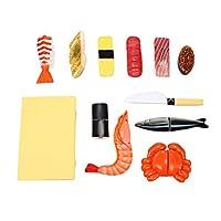 Toyvian 漫画のシミュレーションのおもちゃプラスチック日本の寿司DIYの台所スマートなおもちゃ子供の子供のギフトに適した手作りツール