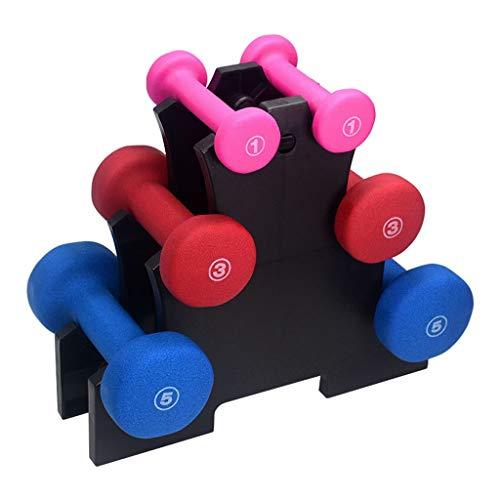 Dumbbells/gewichtheffen kunststof-geïmpregneerde Dumbbell met plank Dames Huishoudelijke Dumbbell Set Kleine Gewicht Dumbbell Sport Fitness Apparatuur Oefening Fitness Workout