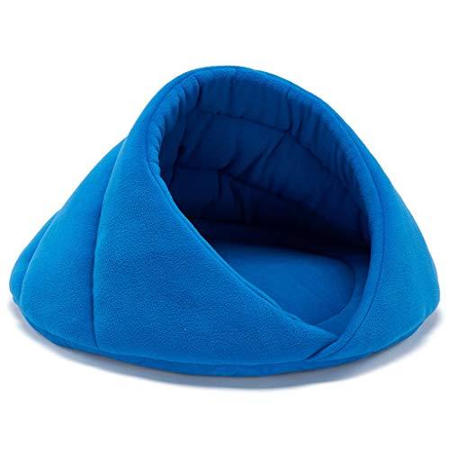Qbylyf Nest een huisdier-nest, dat huisdieren goed slapen laat 0,4 kg rood, grijs, blauw fleece volledig verpakt warmte vier seizoenen universele hondenkattennest hondenholte