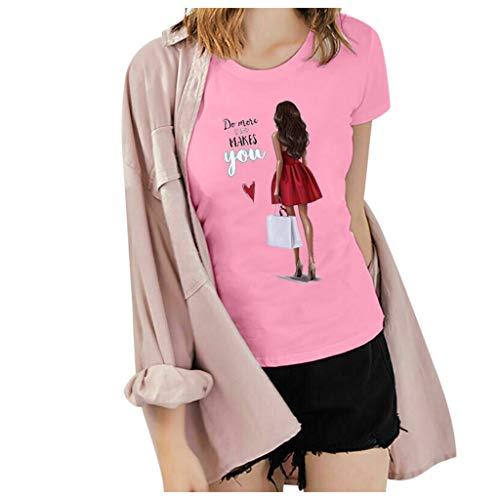 routinfly - Camiseta de manga corta para mujer, cuello redondo, diseño de gato