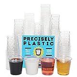 100 Shot Glasses Premium 3oz Clear Plastic Disposable Cups,...