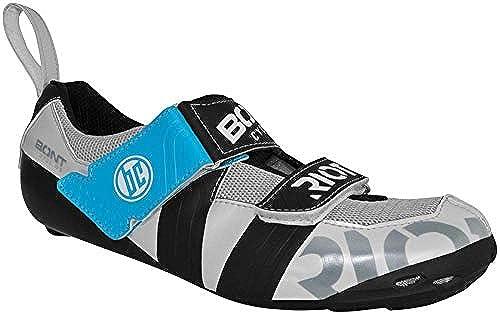 BONT Riot TR+ Triathlon Schuh Euro 44, perlWeiß schwarz