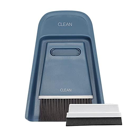Cozy69 Escoba pequeña, recogedor y limpiaparabrisas de repuesto 3 en 1, herramienta de limpieza multifuncional duradera kit de limpieza para camping, teclado, mesa, escritorio, ventanas