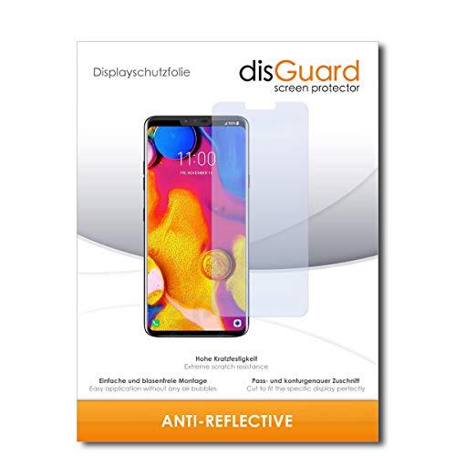 disGuard® Bildschirmschutzfolie [Anti-Reflex] kompatibel mit LG V40 ThinQ [3 Stück] Entspiegelnd, Matt, Antireflektierend, Extrem Kratzfest, Anti-Fingerabdruck - Panzerglas Folie, Schutzfolie