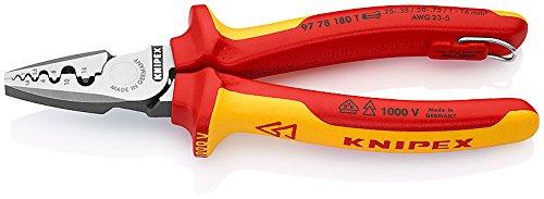 KNIPEX Alicate para crimpar punteras huecas aislado 1000V (180 mm) 97 78 180 T