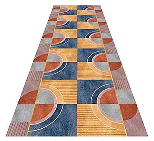 Langer Flur Hall Runner schmaler Teppiche Halle Runner, Nachttischmatte Home Flur Runner Matte Maschinenwaschbar verblasst Nicht geometrische Muster Polyester, bei Will Mode (Size : 80X320CM)
