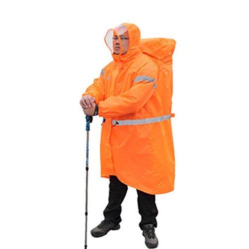 Raincoat Imperméable extérieur, Multifonctions, Poncho randonnée Ultra léger Sac à Dos connecté Poncho étanche pour Homme et Femme a M
