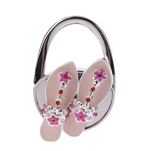 WOWOWO Zapatos de Cubierta Plegables de Diamantes de imitación en Forma de Percha para Bolso, Soporte para Bolso, Gancho para Mesa, Regalo