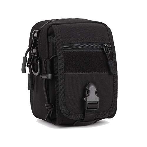 ETORRY Bolsa mensageiro tática multifuncional, bolsa de pesca, bolsa de ombro militar, mochila de cintura para caminhadas, acampamento, caminhada (preta)