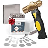 Metal Stamping Kit with Hammer and Steel Bench Block, 36 Piece Punch Set - Letter Stamps for Metal, Jewelry, Wood, Leather & More
