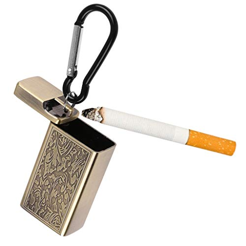 Outdoor mini draagbare asbakje sleutelhanger gebruik zak roken asbak met reizen deksel sleutelhanger,B
