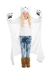cheap Finn Fun Wild Things Snow Cap Polar Bear Hooded Blanket