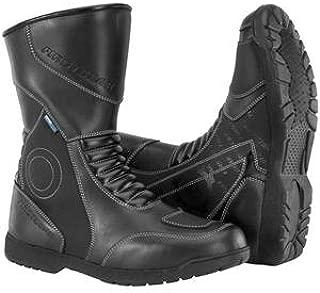 Kili Hi Men's Leather Street Racing Motorcycle Boots - Black / Size 7
