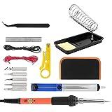 Juego de herramientas de soldadura de temperatura ajustable 15 piezas juego de soldador eléctrico naranja 60W herramientas de quema de madera herramientas de soldadura(Enchufe de la UE 220 V)
