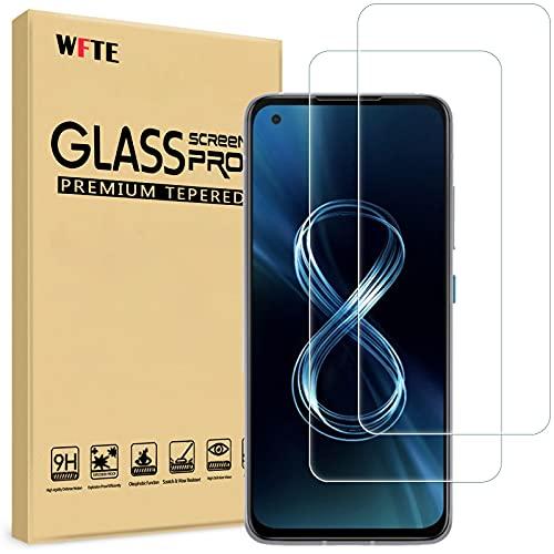 WFTE [2-Pack] Protector de Pantalla para ASUSZenfone8,9H Dureza,Huellas Dactilares Libre,Sin Burbujas,Cristal Templado...