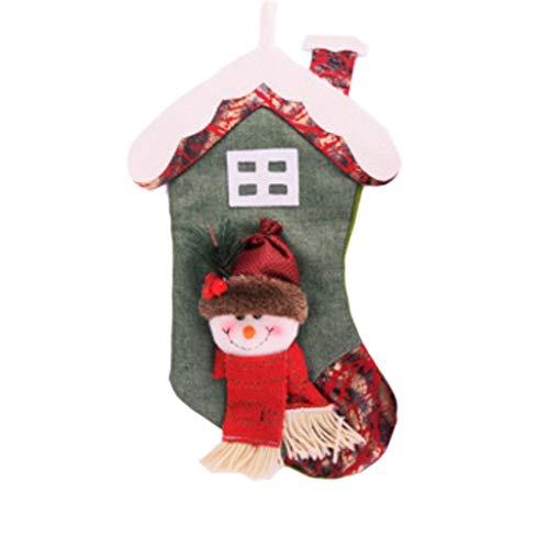 GYH Décorations De Noël, Décorations d'arbre De Noël, Bas De Noël, Sacs De Bonbons Suspendus De Noël, Old Man Snowman /& (Couleur : A)