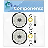 2-Pack 12001541 Drum Support Roller Kit Replacement for Maytag MDE7600AYW Dryer - Compatible with 303373 Dryer Drum Roller Wheel - UpStart Components Brand