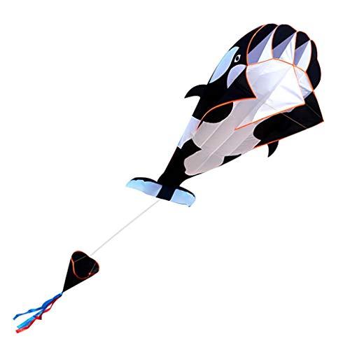 Harpily Software Delphin Drachen Killerwal Drachen,Stereo Cartoon 3D Drachen Meereslebewesen Drachen Brisen Strand Drachen Mit Enormem Rahmenlosem Weichem Geschenk