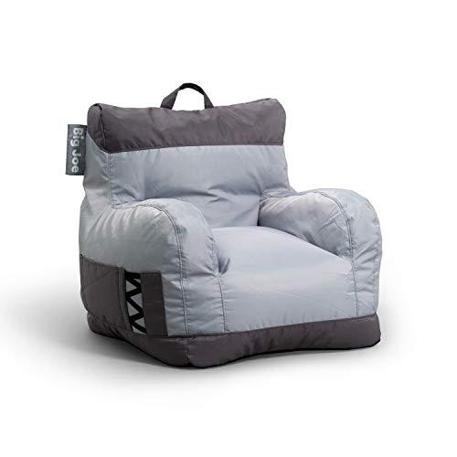 Big Joe Dorm Bean Bag Chair, Two Tone Gray
