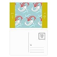 カープの波は、日本のトーテム 友人のポストカードセットサンクスカード郵送側20個