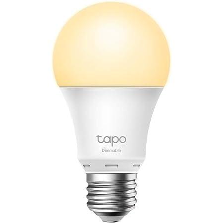 TP-Link Tapo スマート LED ランプ 調光タイプ 電球色 E26 800lm 電球色 Echo シリーズ/Google ホーム 対応 追加機器不要 3年保証 Tapo L510E/A