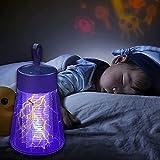 Bweele Matamoscas electrónico UV LED, silencioso, respetuoso con el medio ambiente, lámpara UV, no tóxico, sin radiación, trampa para moscas segura (verde)