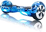 TOEU Hoverboard 6.5' Self Balance Scooter mit Bluetooth - Elektro Scooter Geschenk für Kinder (Army Blue-BL)