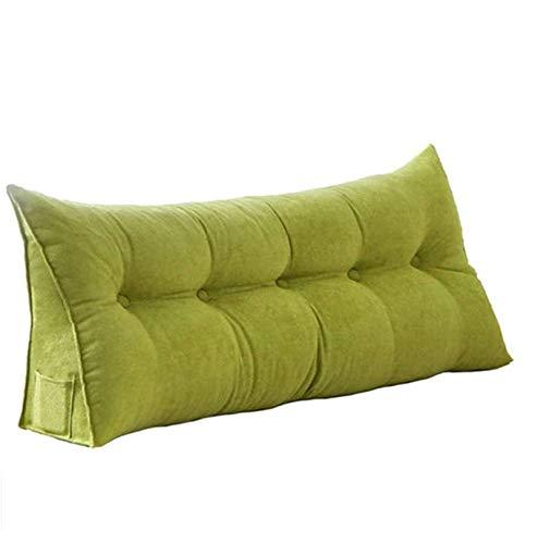Sarah Duke Dreieckige Keil Kissen, bettsitzkissen Kissen Rückenkisse Polstermöbel, Bett-Rückenstütze Keilform, für Sofa Bett Couch Wohn und Schlafzimmer (Grün,60 X 20 X 50cm)