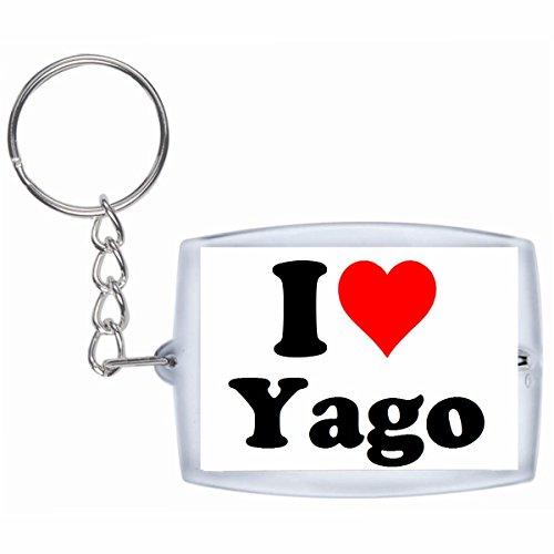 """EXCLUSIVO: Llavero """"I Love Yago"""" en Blanco, una gran idea para un regalo para su pareja, familiares y muchos más! - socios remolques, encantos encantos mochila, bolso, encantos del amor, te, amigos, amantes del amor, accesorio, Amo, Made in Germany."""