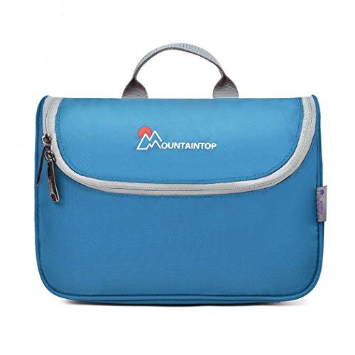 Mountaintop Kulturbeutel Kosmetiktasche Kulturtasche zum Aufhängen Toiletry Bag Waschtasche für Reise Urlaub, 23.5 x 6 x 17 cm (A - Blau)
