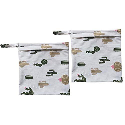 HaHawaii Diaper Bag, 2Pcs Flamingo Cactus Alpaca Diaper Napkin Mommy Stroller Storage Bag Organizer - Cactus