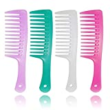 4 Pcs Wide Tooth Comb for Curly Hair,Long Hair,Wet...