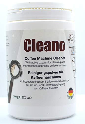 CLEANO reinigungspulver kaffeemaschinen 900 GR, Ideal for RANCILIO, ECM, Rocket, LELIT