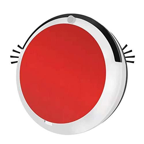 SNAWEN Roboter-Staubsauger für das Home Office Wiederaufladbare Auto-Kehr-Schmutzstaub Smart Mop Bodenecken Staubreiniger Kehrmaschine Waschen-Rot_ICH