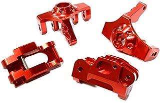Integy RC Model Hop-ups T5023RED Billet Machined Steering Knuckle & Caster Block Set for HPI 1/12 Savage XS Flux