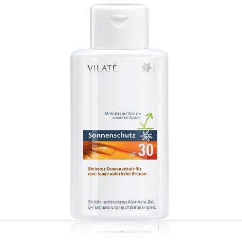 Vilate Sonnenschutz LSF 30 Hoch! Mit schützendem Aloe-Vera Gel. Inhalt 250 ml