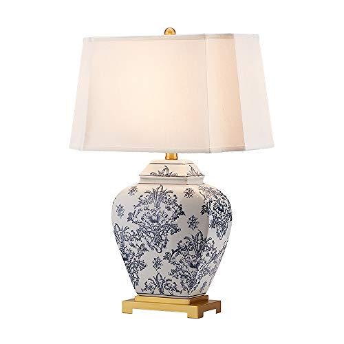 Leseleuchte Keramik Schlafzimmer Nachttischlampe Moderne Villa High-End-Luxus-Schreibtisch-Licht-E27 Alle Kupferbasis Tischlampen