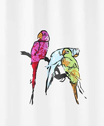 Kleine Wolke 5224148305 Duschvorhang Parrot, 180 x 200 cm, Multicolor