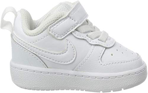 Nike Unisex Baby Court Borough Low 2 Hausschuhe, Weiß (White/White/White 100), 21 EU