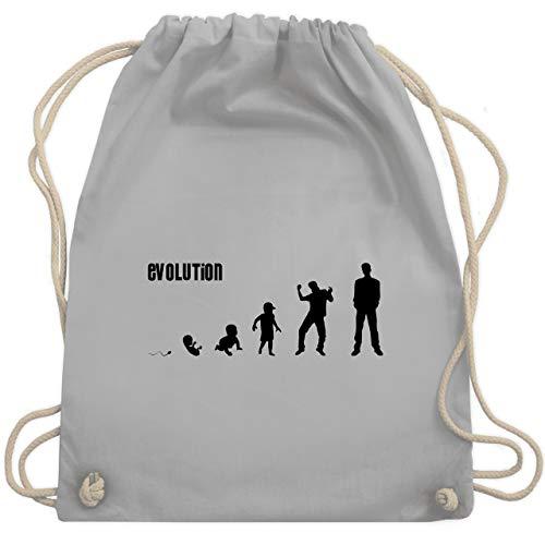 Shirtracer Evolution - Mann Evolution - Unisize - Hellgrau - 187 tasche - WM110 - Turnbeutel und Stoffbeutel aus Baumwolle