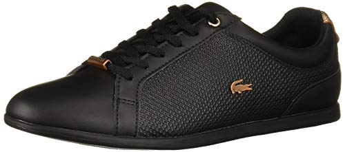 Lacoste Women's Rey Shoe, Black/Black, 7 Medium US