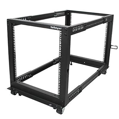 """StarTech.com 12U Open Frame Server Rack - 4 Post Adjustable Depth (22"""" to 40"""")"""