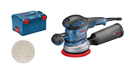 Bosch Professional Exzenterschleifer GEX 40-150 (inkl. Staubbox, Schleifteller-⌀ 150 mm, Netzschleifblatt M480, Winkelschraubendreher, in L-BOXX 238)